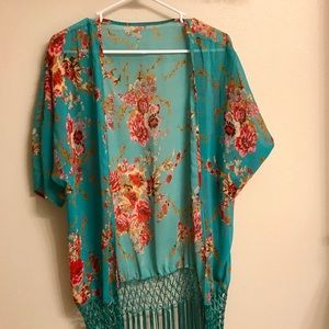 Other - Floral Kimono Beach Cover-Up